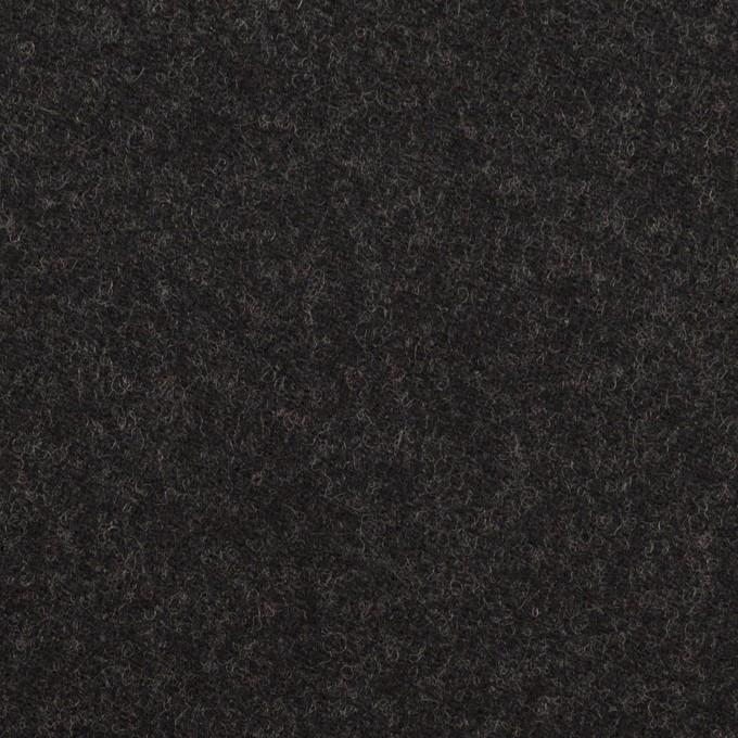 ウール×無地(チャコール)×サージ イメージ1