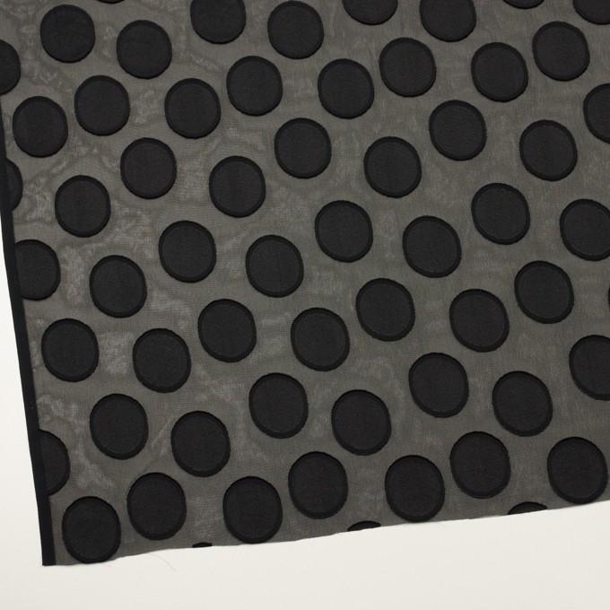 ポリエステル×サークル(ブラック)×ジョーゼット・カットジャガード イメージ2