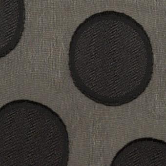 ポリエステル×サークル(ブラック)×ジョーゼット・カットジャガード サムネイル1