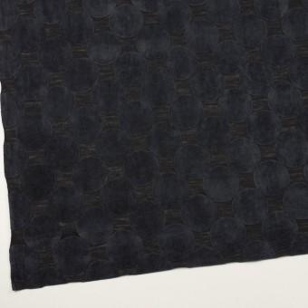 ウール&ポリエステル×サークル(アッシュネイビー&ブラック)×天竺ニット_フロッキー_全2色 サムネイル2