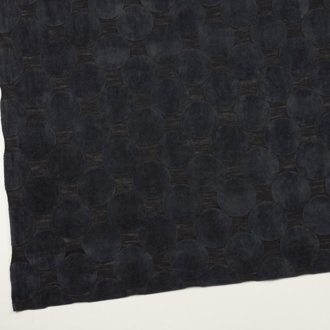 ウール&ポリエステル×サークル(アッシュネイビー&ブラック)×天竺ニット_フロッキー_全2色 イメージ2