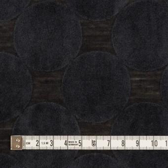 ウール&ポリエステル×サークル(アッシュネイビー&ブラック)×天竺ニット_フロッキー_全2色 サムネイル4
