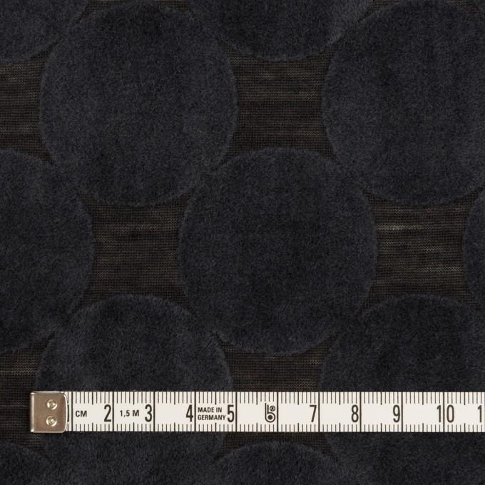 ウール&ポリエステル×サークル(アッシュネイビー&ブラック)×天竺ニット_フロッキー_全2色 イメージ4