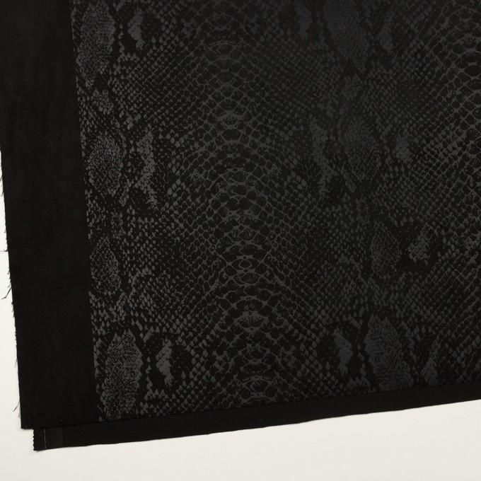 ポリエステル×スネーク(ブラック)×スエードかわり織 イメージ2