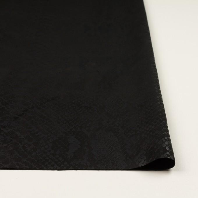 ポリエステル×スネーク(ブラック)×スエードかわり織 イメージ3