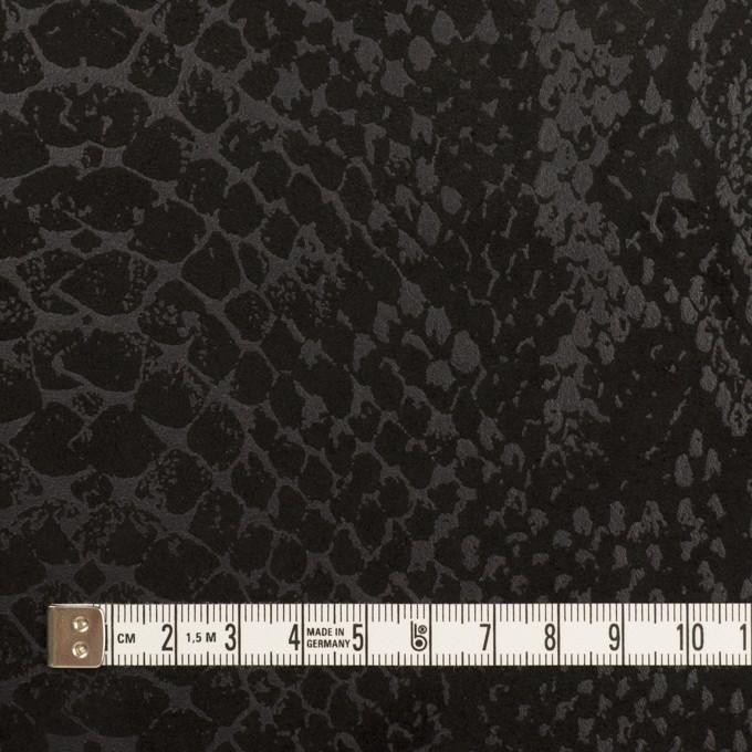 ポリエステル×スネーク(ブラック)×スエードかわり織 イメージ4