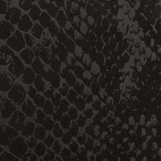ポリエステル×スネーク(ブラック)×スエードかわり織 イメージ1