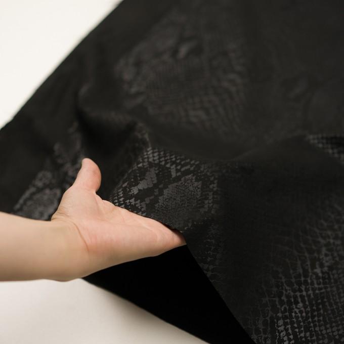 ポリエステル×スネーク(ブラック)×スエードかわり織 イメージ5