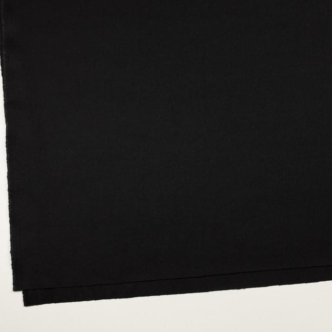ウール×無地(ブラック)×サージ イメージ2
