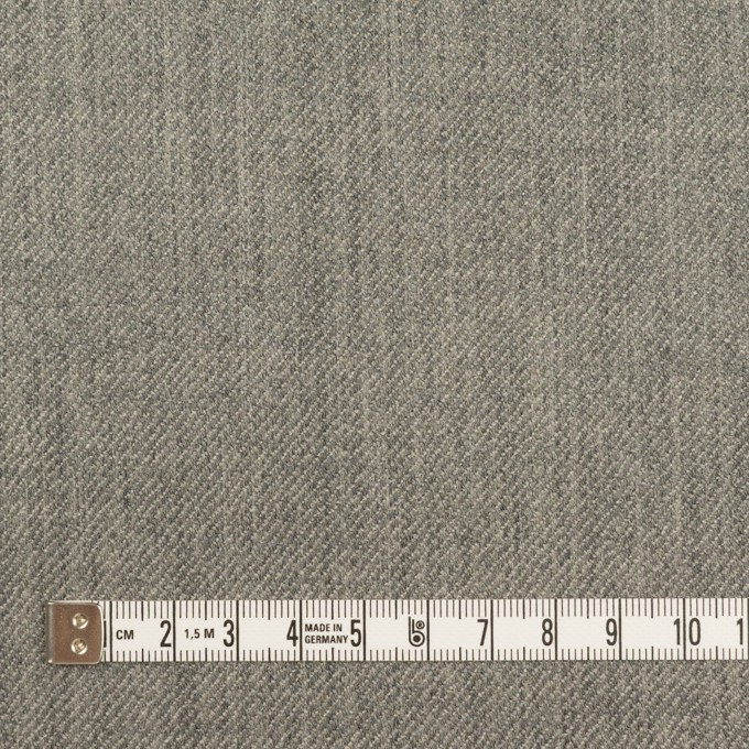 ウール×無地&チェック(グレー&カーキグリーン)×Wフェイスサージ イメージ7