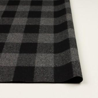 ウール×チェック(グレー&ブラック)×フラノ(フランネル)_全2色 サムネイル3