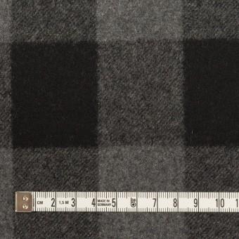 ウール×チェック(グレー&ブラック)×フラノ(フランネル)_全2色 サムネイル4