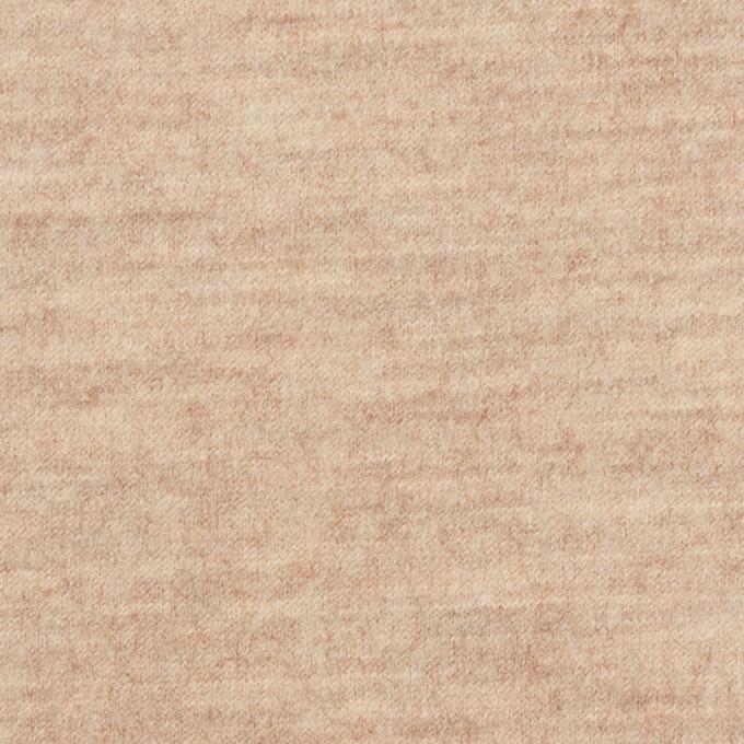 ウール&ナイロン×無地(オートミール)×圧縮ニット_全2色 イメージ1