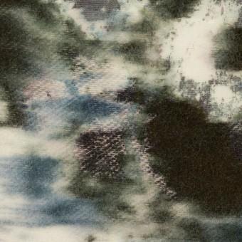 コットン&ウール×ペイント(ブルーグレー)×ボイルカットジャガード_全2色