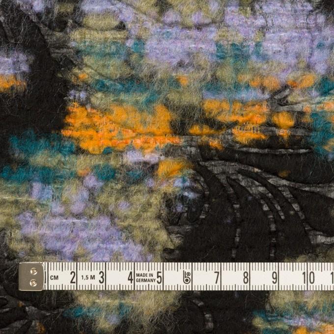 ウール&ポリエステル混×フラワー(マルチ)×ジャガード(型押し) イメージ4