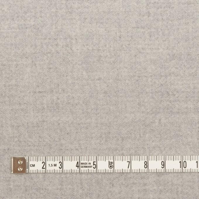 ウール&ナイロン×無地(ライトグレー)×ソフトメルトン イメージ4