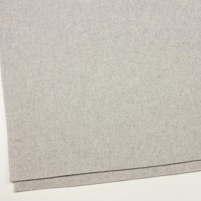 ウール×無地(ライトグレー)×ソフトメルトン イメージ2