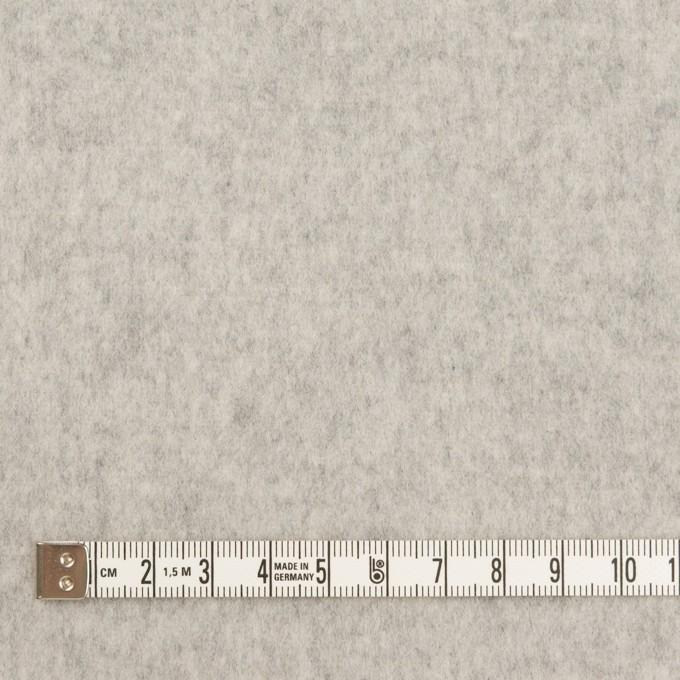 ウール×無地(ライトグレー)×ソフトメルトン イメージ4