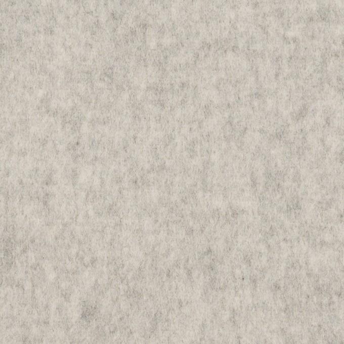 ウール×無地(ライトグレー)×ソフトメルトン イメージ1