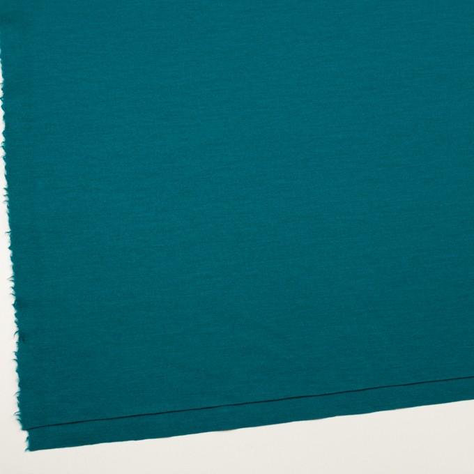 ウール×無地(エメラルドブルー)×圧縮ニット イメージ2