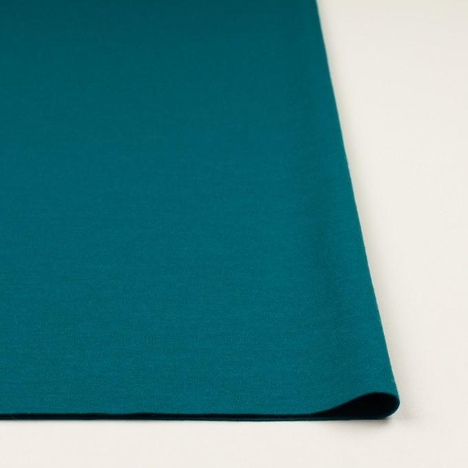ウール×無地(エメラルドブルー)×圧縮ニット イメージ3