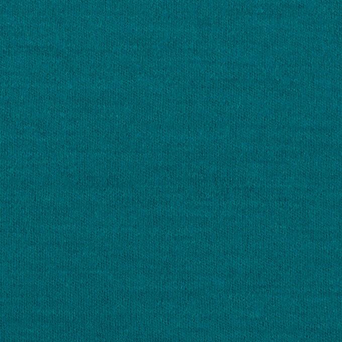 ウール×無地(エメラルドブルー)×圧縮ニット イメージ1