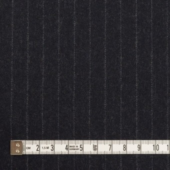【200cmカット】ウール×ストライプ(ダークネイビー)×サージ サムネイル4