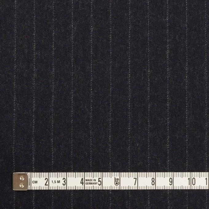 【200cmカット】ウール×ストライプ(ダークネイビー)×サージ イメージ4
