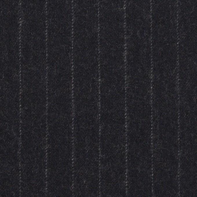【200cmカット】ウール×ストライプ(ダークネイビー)×サージ イメージ1