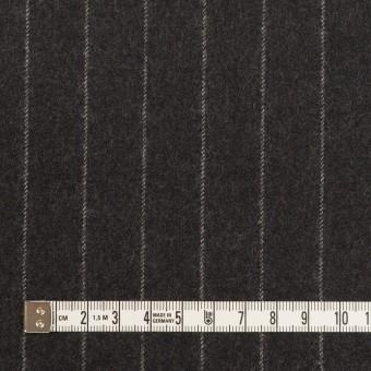 ウール×ストライプ(チャコールグレー)×サージ サムネイル4