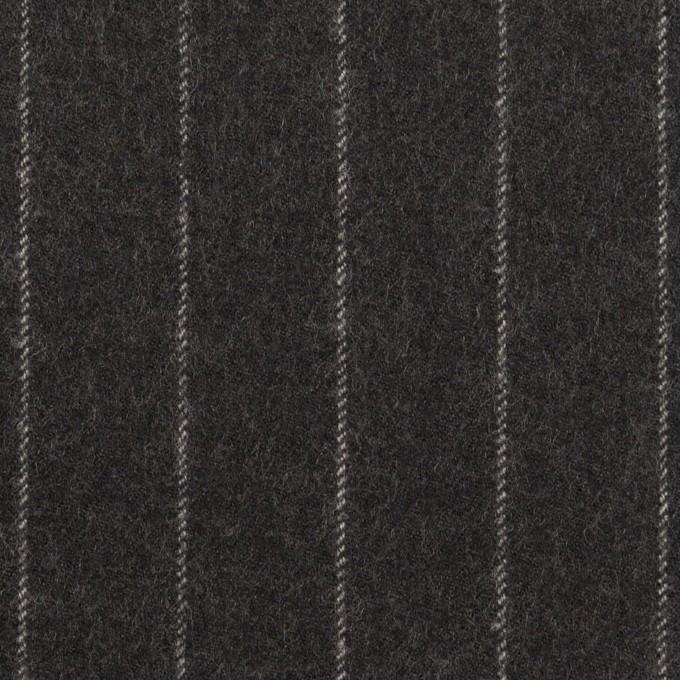 ウール×ストライプ(チャコールグレー)×サージ イメージ1