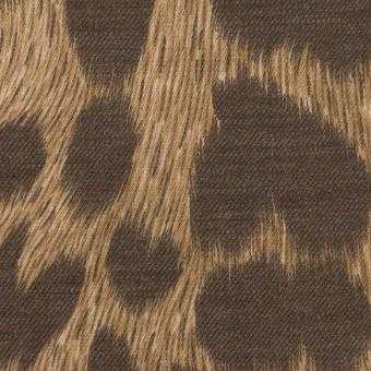 コットン&ポリエステル×レオパード(モカ&アッシュブラウン)×薄ビエラ サムネイル1