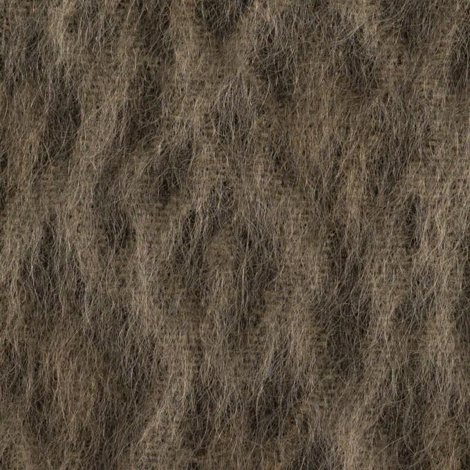 ウール&アクリル混×レオパード(アッシュブラウン)×シャギー イメージ1