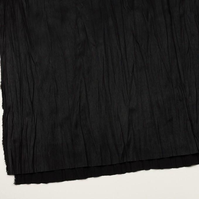 ポリエステル×無地(ブラック)×スエードかわり織(プリーツ加工) イメージ2