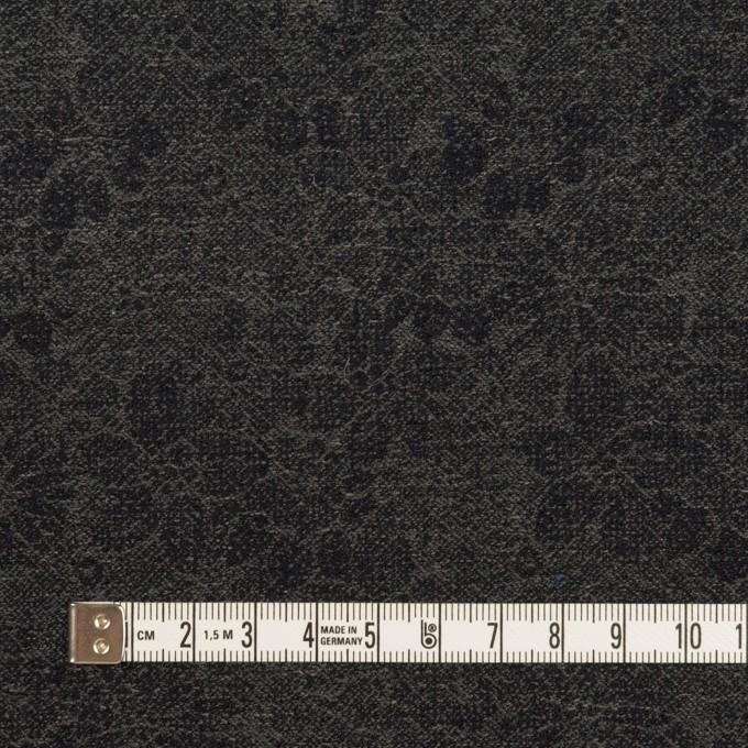 ウール&コットン×フラワー(チャコールグレー&ダークネイビー)×ジャガード イメージ4