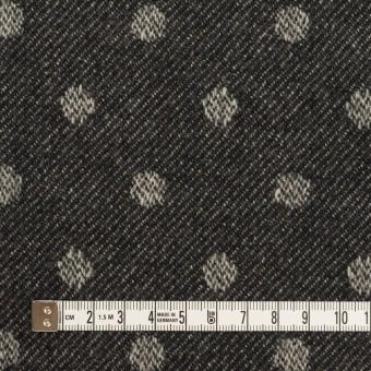 ウール×水玉&無地(ダークネイビー&ブラック)×ジャガード&ビーバー(Wフェイス) サムネイル4