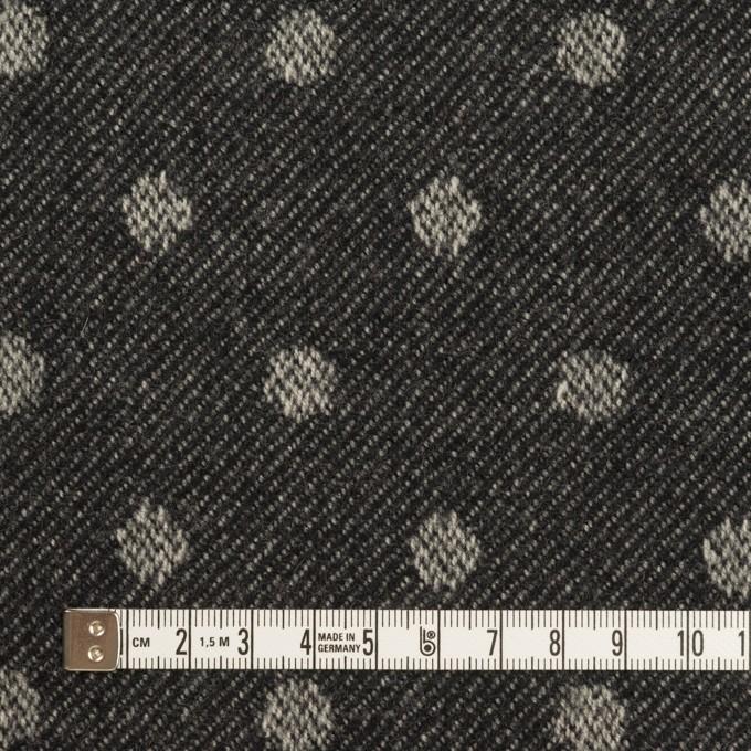 ウール×水玉&無地(ダークネイビー&ブラック)×ジャガード&ビーバー(Wフェイス) イメージ4