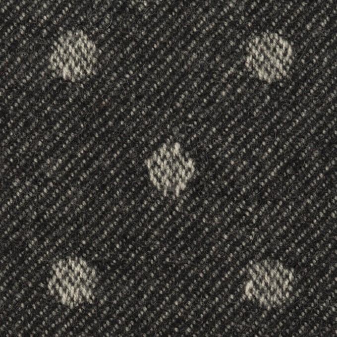 ウール×水玉&無地(ダークネイビー&ブラック)×ジャガード&ビーバー(Wフェイス) イメージ1