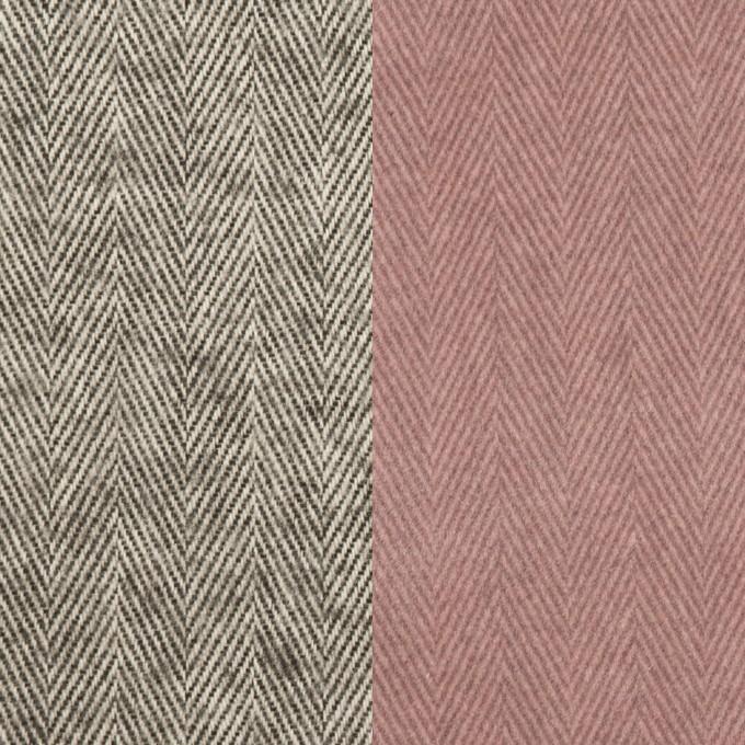 コットン×ミックス(グレー)×ヘリンボーン_フロッキー_イタリア製 イメージ1