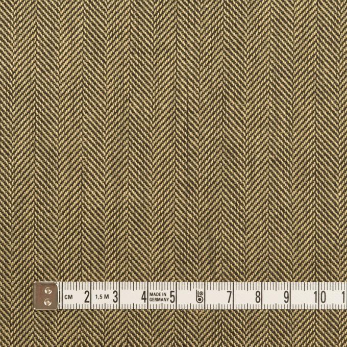 ウール×ミックス(カーキベージュ&ダークブラウン)×ヘリンボーン イメージ4