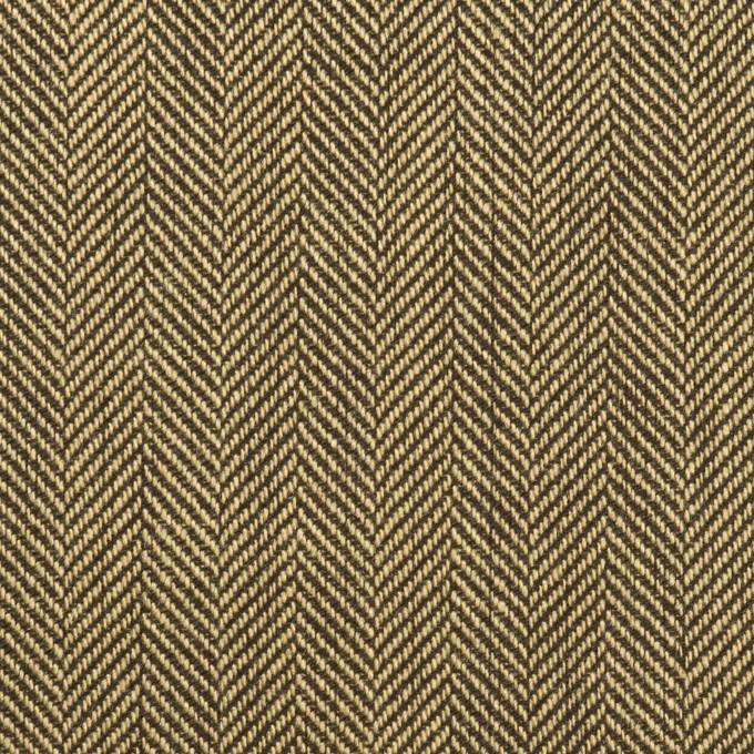 ウール×ミックス(カーキベージュ&ダークブラウン)×ヘリンボーン イメージ1