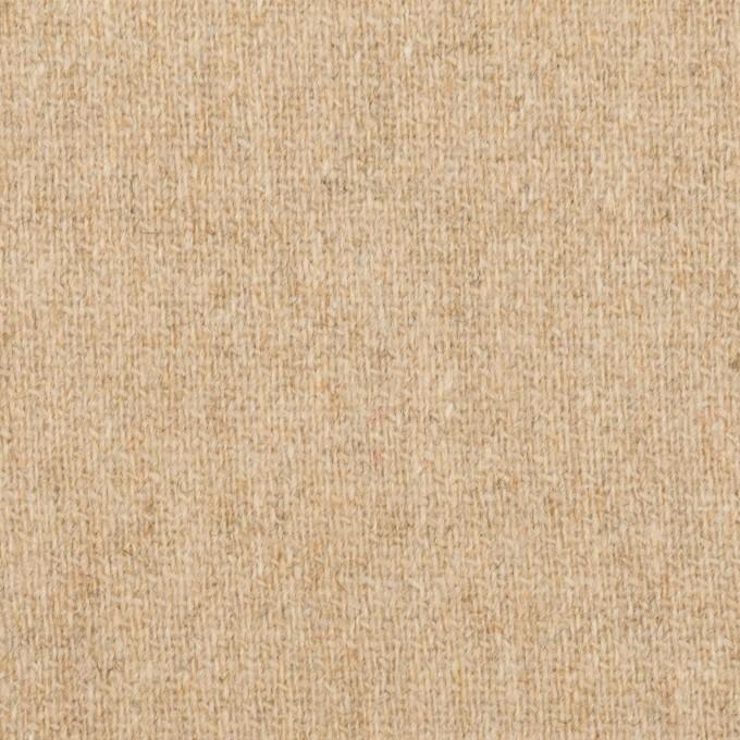 ウール&ポリエステル混×無地(ベージュ)×ツイードストレッチ イメージ1