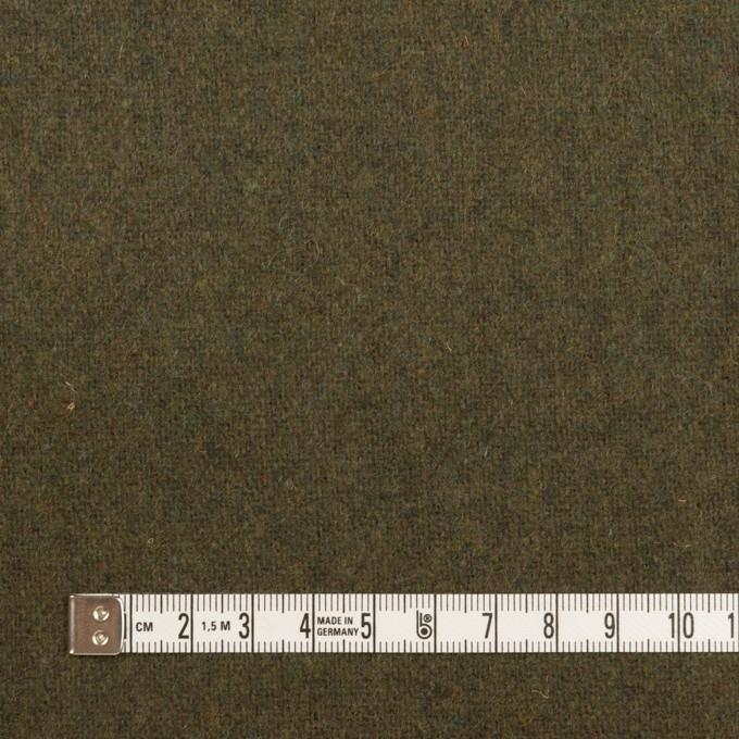 ウール&ポリエステル混×無地(カーキグリーン)×ツイード イメージ4