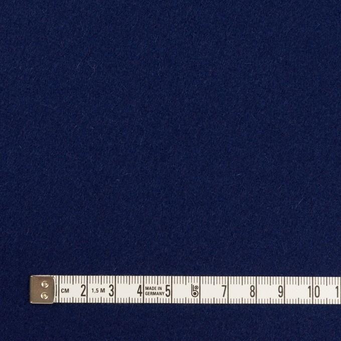 ウール×無地(プルシアンブルー)×メルトン イメージ4