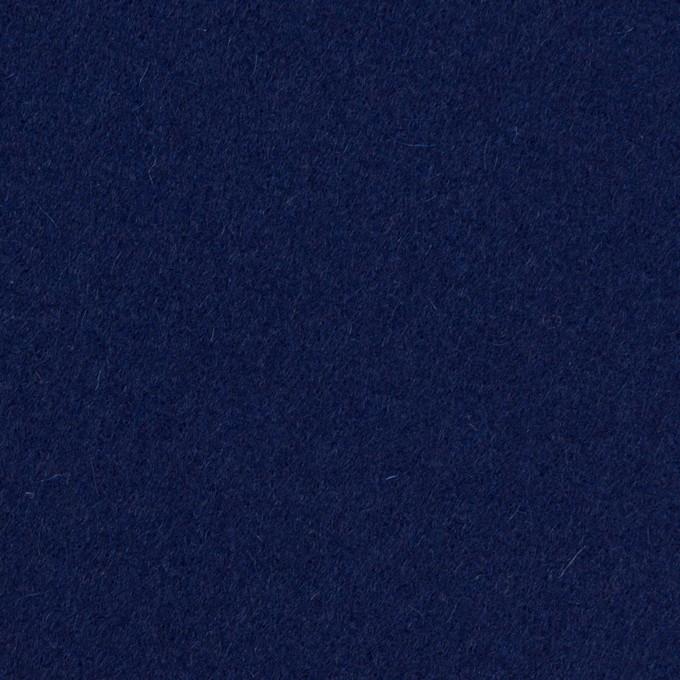 ウール×無地(プルシアンブルー)×メルトン イメージ1