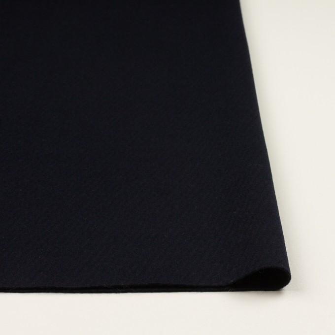 ウール×無地(ダークネイビー)×カルゼ イメージ3