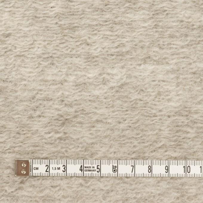 モヘア&ウール混×無地(パールグレー)×ループニット_イタリア製 イメージ4