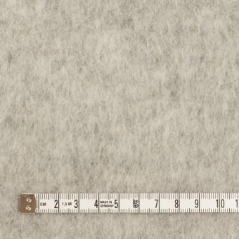 ウール&ポリエステル×無地(ライトグレー)×フリースニット サムネイル4