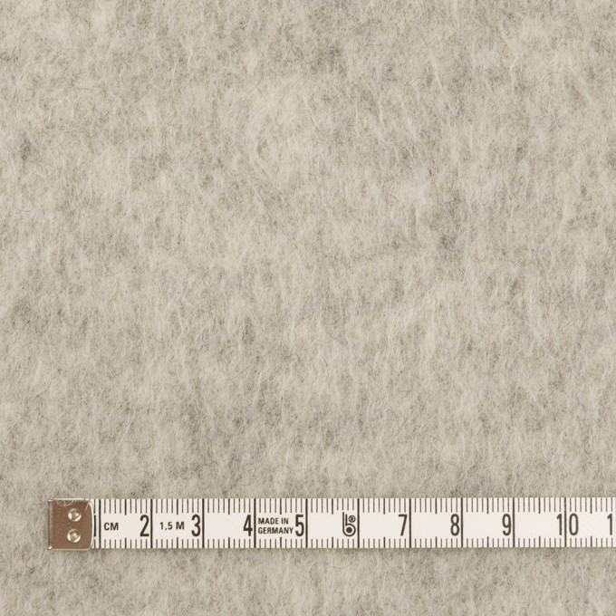 ウール&ポリエステル×無地(ライトグレー)×フリースニット イメージ4