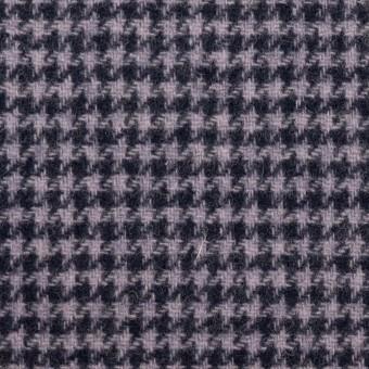 ウール&アクリル混×千鳥格子&無地(グレープ、ネイビー&ネイビー)×ツイード&フラノ(Wフェイス)_全2色